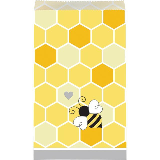 Bumble Bee Baby Party Paper Treat Bags