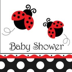 Little Ladybird Baby Shower Party Napkins
