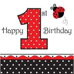 Little Ladybird 1st Birthday Party Napkins