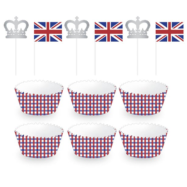 Chubblies Union Jack Party Cupcake Cases