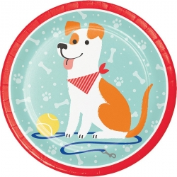 Perfect Paws Dog Puppy Party Plates