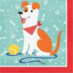 Perfect Paws Dog Puppy Party Napkins
