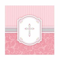 Radiant Cross Pink Party Napkins