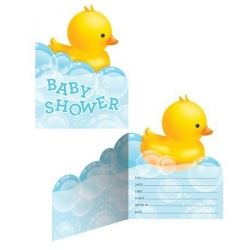 Lil Quack Bubble Bath Party Invitations