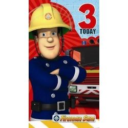 Fireman Sam Birthday Card Age 3