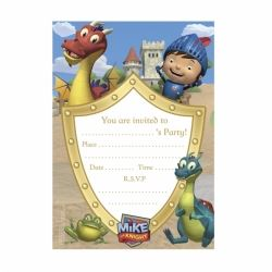 Mike The Knight Party Invitations