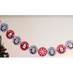Party Penguin Merry Christmas Party Banner