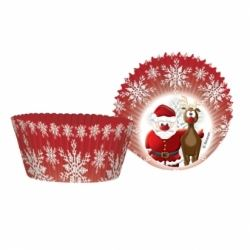 Christmas Santa & Rudolph Party Cup Cake Cases