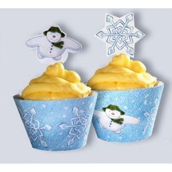 The Snowman Cupcake Wrappers & Toppers