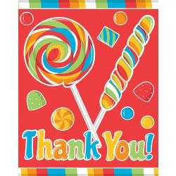 Sugar Buzz Party Thank You's
