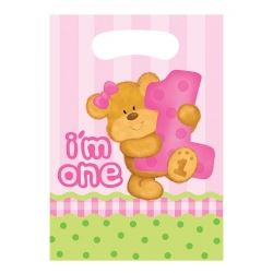 Bears 1st Birthday Girl Party Loot Bags