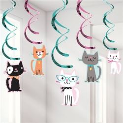 Purr-fect Party Dangler Decorations