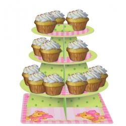 Bear's 1st Birthday Girl Party Cupcake Stands