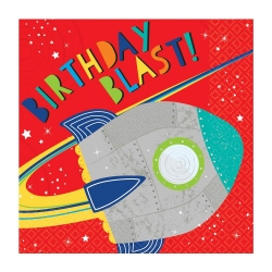 Blast Off Space Birthday Party Napkins