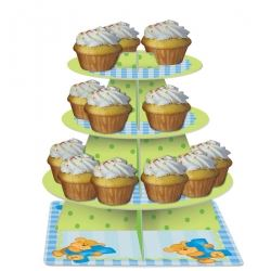 Bear's 1st Birthday Boy Party Cupcake Stands