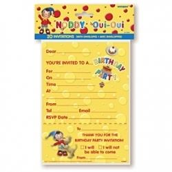 Noddy Party Invitations