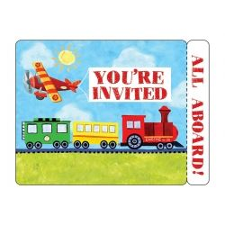 On The Go Party Party Invitations