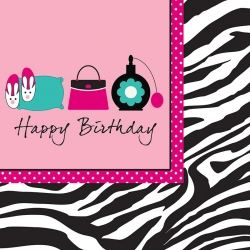 Boutique Pamper Happy Birthday Party Napkins
