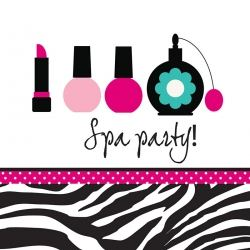 Pink Zebra Boutique Lunch Napkins Spa Party