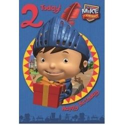 Mike The Knight Birthday Card Age 2