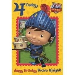 Mike The Knight Birthday Card Age 4
