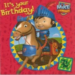 Mike The knight Happy Birthday Card