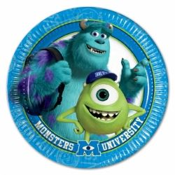 Monster University Party Plates
