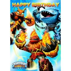 Skylander Happy Birthday Card