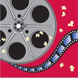 Movie Night Film Reel Party Napkins