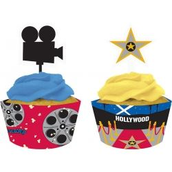 Movie Night Cupcake Wrapper & Picks