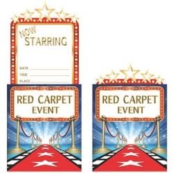 Movie Cinema Party Invitations
