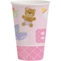 Teddy Baby Pink Party Cups