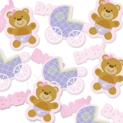 Teddy Baby Pink Party Confetti