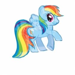 My Little Pony Super Shape Rainbow Dash Foil Balloons