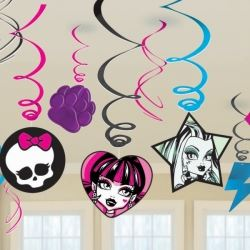 Monster High Party Swirl Decorations