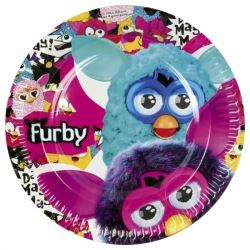 Furby Party Plates
