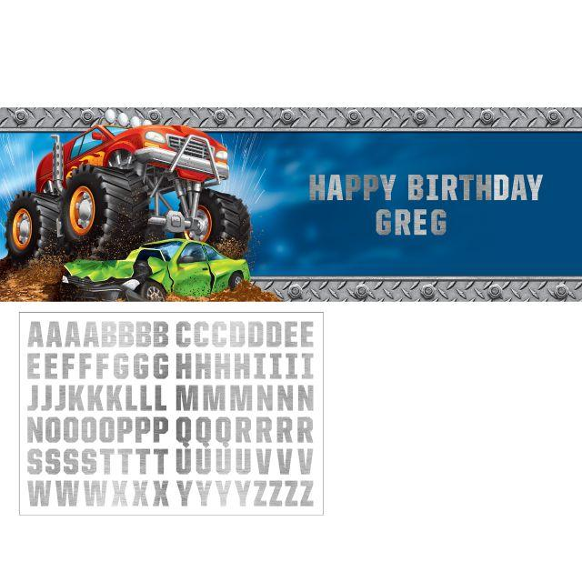 Monster Truck Rally Giant Banner Kit