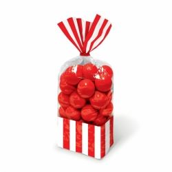 Candy Buffet Stripped Sweet Bags Red