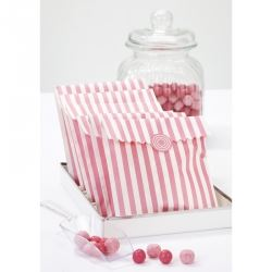 Pink Stripped Party Sweet Bags