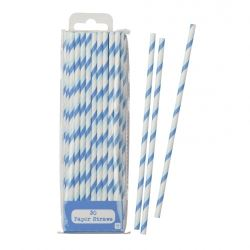 Blue Strippy Straws