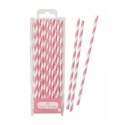 Pink Strippy Straws