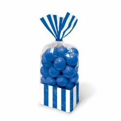 Candy Buffet Stripped Sweet Bags Royal Blue