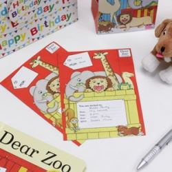 Dear Zoo Party Invitations