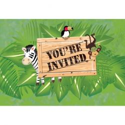 Safari Adventure Party Invitations