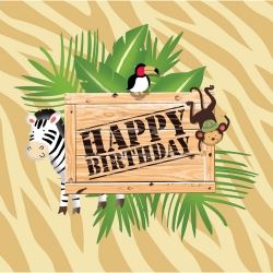 Safari Adventure Happy Birthday Napkins