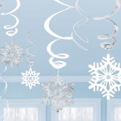 Snowflakes Party Swirl Hanging Decorations