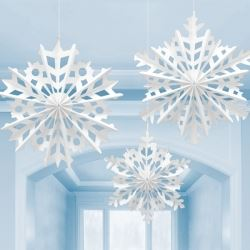 Snowflake Paper Fan Decorations