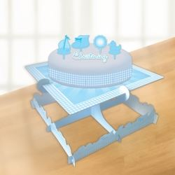 Christening Blue Booties Candle & Cake Decorating Kit