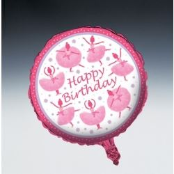 Tutu Much Fun Happy Birthday Foil Balloon