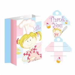 Little Cooks Party Bags With Ribbon and Tags